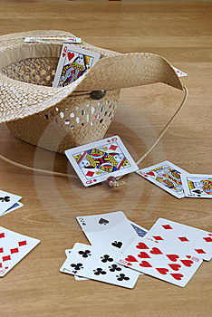 Tossing Cards Royalty Free Stock Image - Image: 10098836