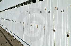 Row Of Doors With Padlocks Stock Photography - Image: 1010232