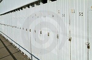 Row Of Doors With Padlocks Stock Photography - Image: 1010232