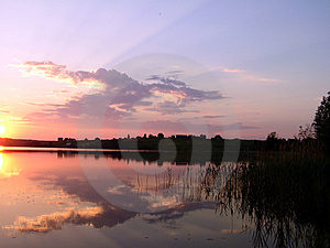 SunSet - Like Pankovskoe Royalty Free Stock Photos - Image: 1010658