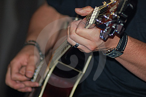 Playing Guitar Royalty Free Stock Photo - Image: 1011585