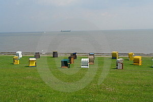 Beach At Cuxhaven, Germany Stock Photo - Image: 1012710