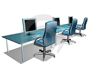 OFFICE LCD MONITOR Stock Images