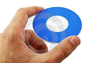 Hand Holding Mini Disc Royalty Free Stock Photo - Image: 10100185