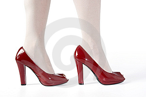 Woman Legs In Red Shoes Stock Photography - Image: 10100792