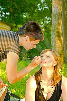 Make-up Designer Royalty Free Stock Photos - Image: 10101558