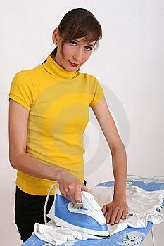 Woman Ironing Stock Image - Image: 10103211
