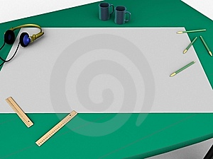 Drawing Desk Royalty Free Stock Photo - Image: 10103825
