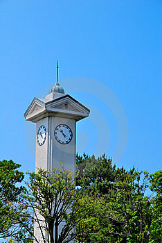 Majestic Clock Tower Royalty Free Stock Images - Image: 10104079