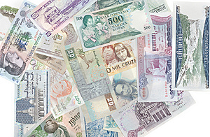 Money Different Countries Royalty Free Stock Photography - Image: 10104547