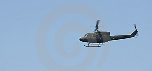 Green Helicopter Stock Photo - Image: 10107240