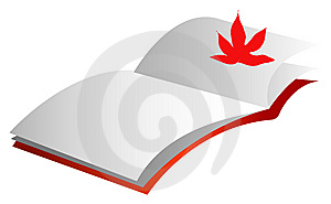Maple Leaf And Book Royalty Free Stock Photo - Image: 10107525