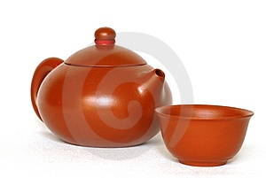 Teapot And Teacup Stock Photo - Image: 10107530