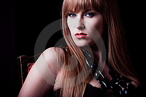 Young Ginger Woman Portrait Closeup Stock Photo - Image: 10110620