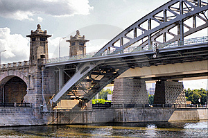 Moscow Railway Bridge Royalty Free Stock Photography - Image: 10111547