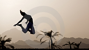 Outdoor Jump Royalty Free Stock Images - Image: 10117149