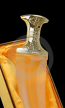 Stylish Perfume Bottle Royalty Free Stock Photos - Image: 10119448