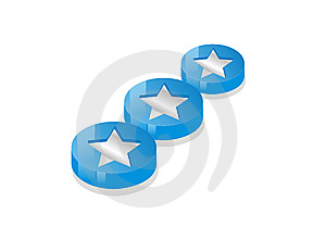 3 Line Star Coins Royalty Free Stock Images - Image: 10120579