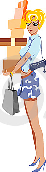 Shopping Girl Stock Photos - Image: 10120653