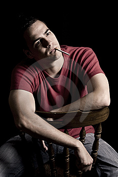 Young Handsome Guy Smoking Cigar Stock Photos - Image: 10121113