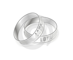 Love Rings Royalty Free Stock Photos - Image: 10121498