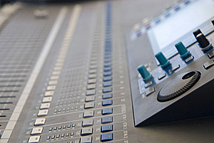 Audio Sound Mixer Console Royalty Free Stock Photo - Image: 10121515