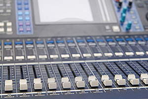 Audio Sound Mixer Console Royalty Free Stock Photos - Image: 10121538
