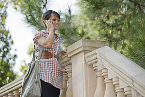 Chatting On The Phone Stock Images - Image: 10122654
