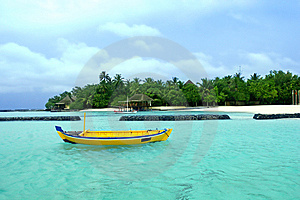 Seascape With Boat Royalty Free Stock Image - Image: 10126406