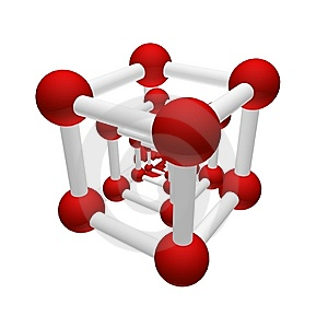 Molecular Grid Of A Geometrical Figure Royalty Free Stock Image - Image: 10127696