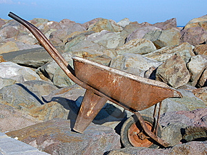 Old Wheel Barrow  Royalty Free Stock Images - Image: 10132339
