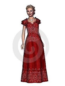 Contemporary Holiday Dress Royalty Free Stock Image - Image: 10132966