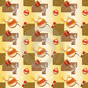 Gold Christmas Wrapping Paper Royalty Free Stock Images - Image: 10133869