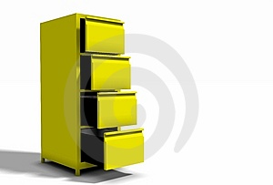 Yellow Cabinet Royalty Free Stock Photos