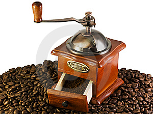 Coffee Grinders To Coffee Beans Stock Image - Image: 10136551