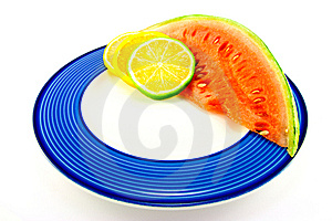 Watermelon With Citrus Slices Stock Images - Image: 10137224