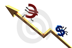 Euro Exchange Rate Stock Image - Image: 10137891