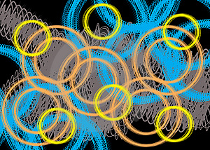 Scribble Rings Stock Photography - Image: 10138012