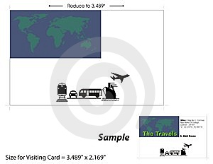 Visiting Card Template - 3 Royalty Free Stock Photos - Image: 10138188
