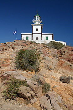 Lighthouse On Santorini Royalty Free Stock Images - Image: 10138729