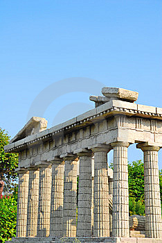 Side View Of The Parthenon Stock Images - Image: 10142074