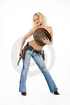 The Cow Girl Royalty Free Stock Images - Image: 10142459