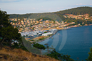 Anacortes Island Marina On Burrows Bay Stock Images - Image: 10142734