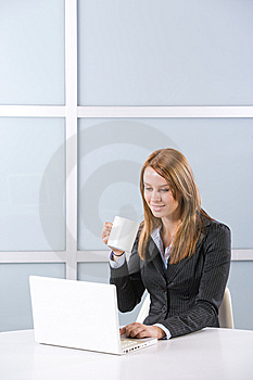 Business Woman In Modern Office Stock Image - Image: 10144661