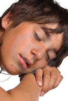 The Sleeping Boy Stock Photos - Image: 10146153