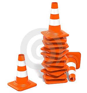 Traffic Cones Stock Photo - Image: 10146760