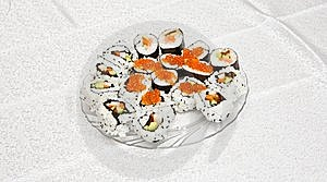 Homemade Sushi With Red Caviar On Royalty Free Stock Image - Image: 10150486