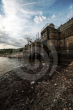 Dam Barrier Royalty Free Stock Image - Image: 10151866