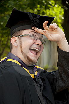 Funny Graduate Royalty Free Stock Photography - Image: 10152787