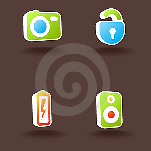 Vector Web Icons. Set 2. Royalty Free Stock Photography - Image: 10152957